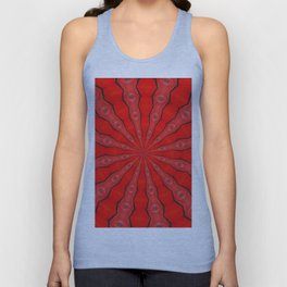 Red and Black Abstract Unisex Tank Top