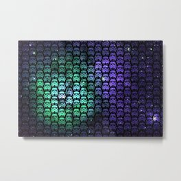 Galactic Empire Stormtroopers Over Purple and Green Cosmos Metal Print