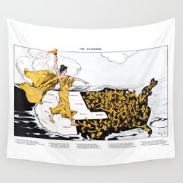 The Awakening - Women's Suffrage Illustration, 1915 Wall Tapestry
