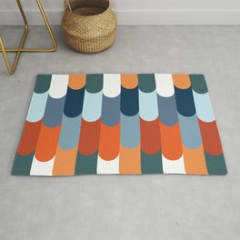 Colorful fish scales decoration Rug