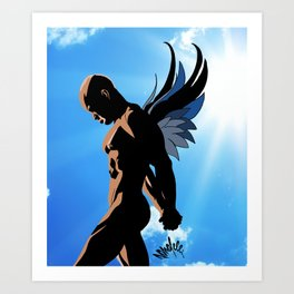 Winged Creature One Art Print