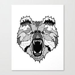 Roaring Bear Canvas Print