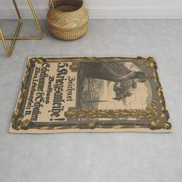 Vintage First World War Poster - Austria-Hungary 5th War Loan (1916) Rug