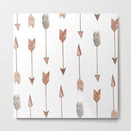 Watercolor Boho Arrows  Metal Print
