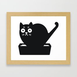 Surprised cat! Framed Art Print