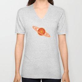 Saturn's Hexagon Unisex V-Neck