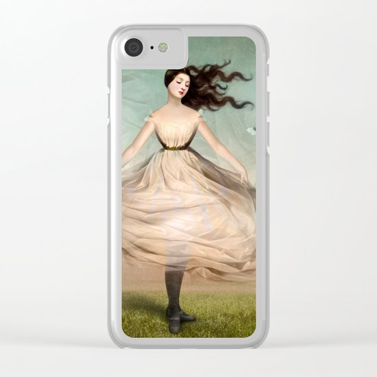 Butterfly Dress Clear iPhone Case