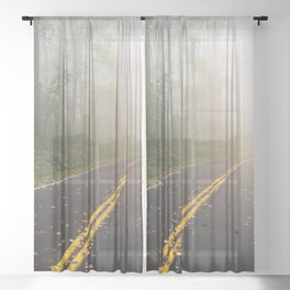 Smoky Mountain Summer Forest VI - National Park Nature Photography Sheer Curtain
