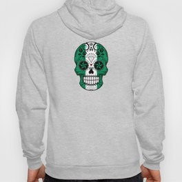 Sugar Skull with Roses and Flag of Nigeria Hoody