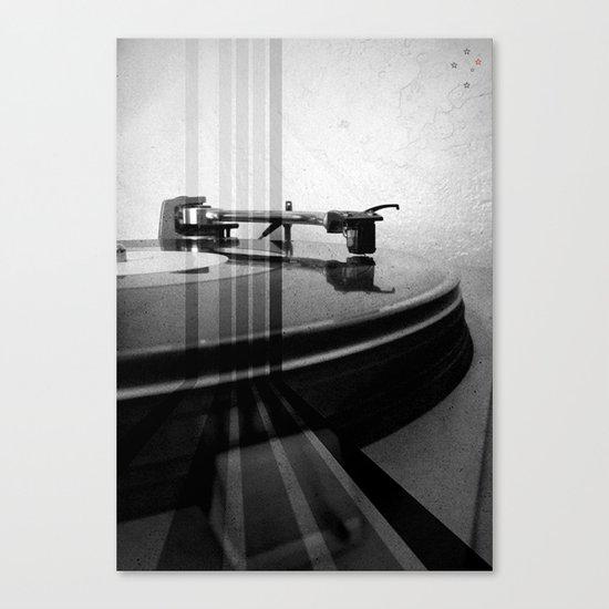 Turntable Retro Canvas Print