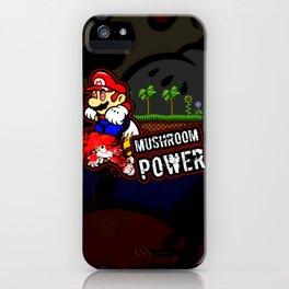 Mario Mushroom Power iPhone Case