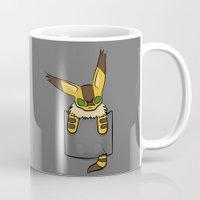 nausicaa Mugs featuring Pocket Teto (Fox Squirrel) by Li.Ro.Vi