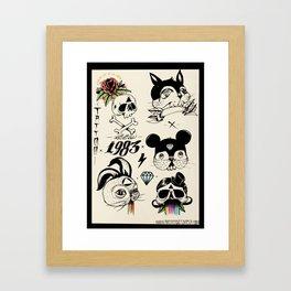 Flash Tattoo Framed Art Print