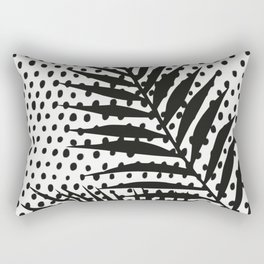 Polka dot palm leaf vintage Rectangular Pillow