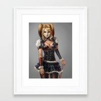 harley quinn Framed Art Prints featuring Harley Quinn by Pat Ventura