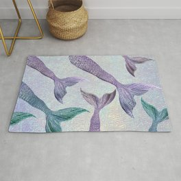 Amethyst and Teal Mermaid Tails Rug