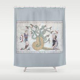 Steve, Bucky and the Hydra Shower Curtain