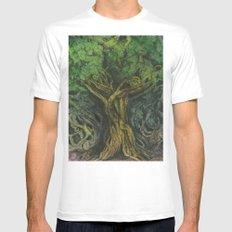 Living Tree Mens Fitted Tee MEDIUM White