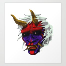 oni red demon Art Print