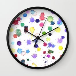 Watercolor Splash Paint Splatter Wall Clock