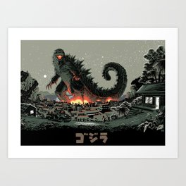 Godzilla - Gray Edition Art Print