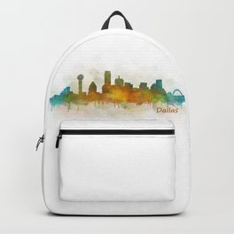 Dallas Texas City Skyline watercolor v03 Backpack
