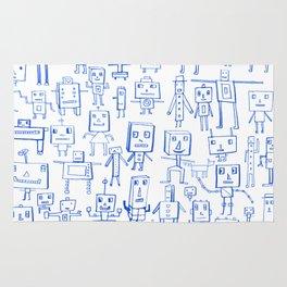 Robot Crowd Rug