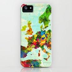 Europe Splatter Map Slim Case iPhone (5, 5s)