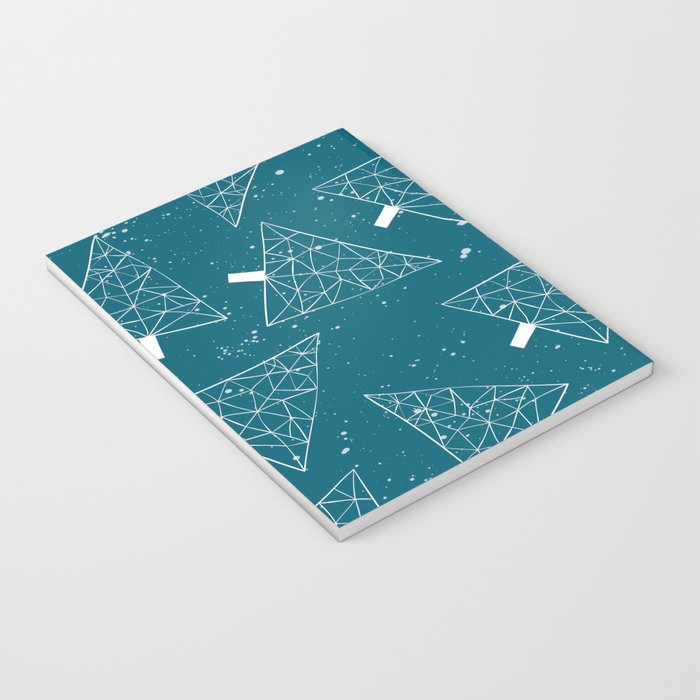 Christmas Trees Teal Notebook