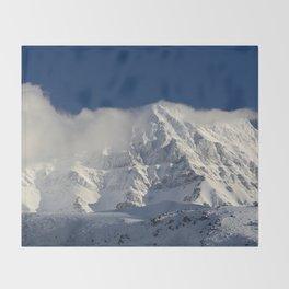 """""""Foggy mountains"""". Alcazaba  mountain 3371 meters Throw Blanket"""