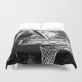 Black And White Basketball Art Duvet Cover