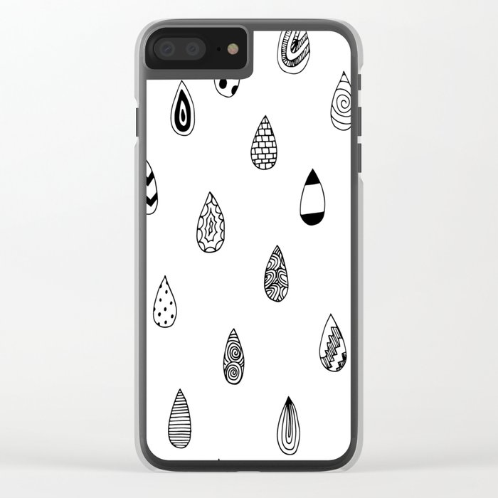 Raindrops of fun Clear iPhone Case