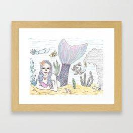 Mermaid! Framed Art Print