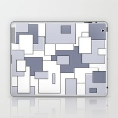 Squares - white and gray. Laptop & iPad Skin