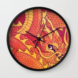 Coiled Dragon Wall Clock