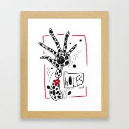 h0LES Framed Art Print