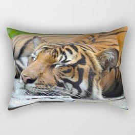 Tiger, Tiger Fast Asleep Rectangular Pillow