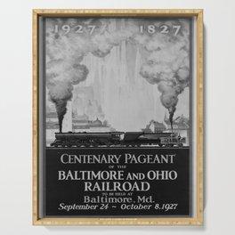 retro retro Centenary Pageant poster Serving Tray