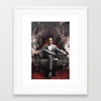 moriarty Framed Art Prints featuring Jim Moriarty by Wisesnail