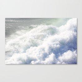 santa cruz waves Canvas Print