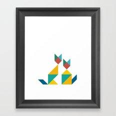Tangram Cats 1 Framed Art Print