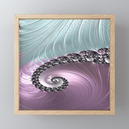 Pink Swirl Framed Mini Art Print