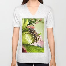 Wasp on flower 6 Unisex V-Neck