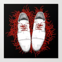 shoes Canvas Prints featuring Shoes by Tamar Kasparian