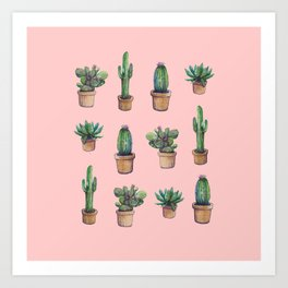 cactus pink, original version are BAck!! Art Print