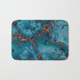 Blue fantasy marble Bath Mat