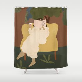 A wine a day keeps the doctor away Shower Curtain