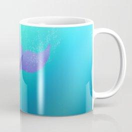 Underwater Swimming Mermaid Fins Purple Coffee Mug
