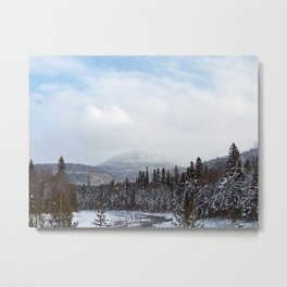 Winter in the Mountains Metal Print