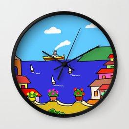 Mediterranean Holiday Wall Clock